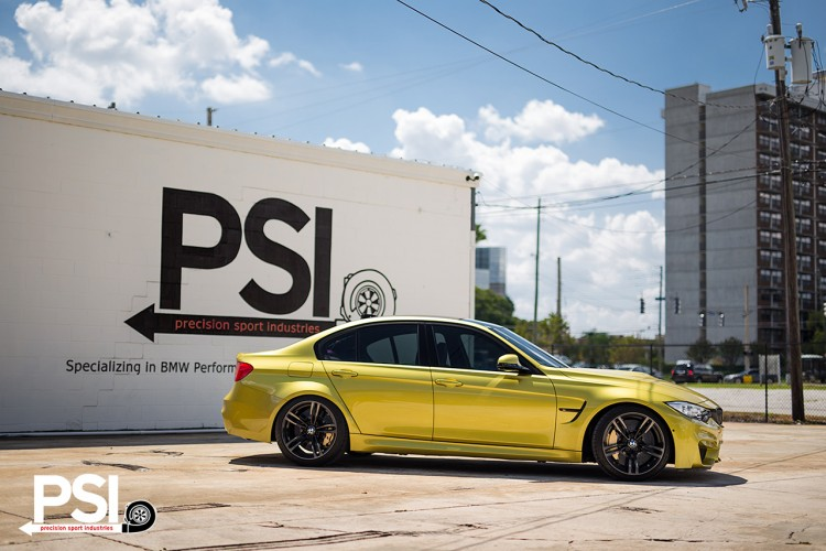 Austin Yellow BMW F82 M4 By Precision Sport Industries 8