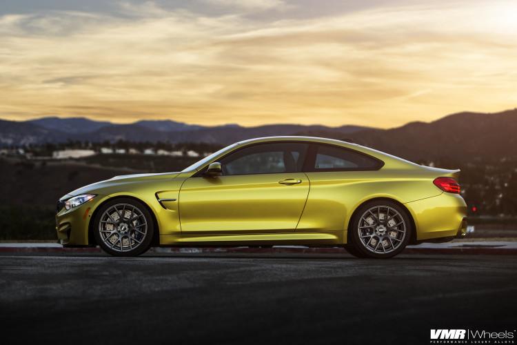 Austin Yellow BMW F82 M4 On VMR Wheels By EAS 01 750x500