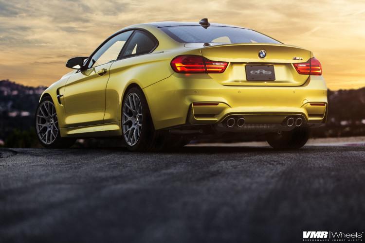 Austin Yellow BMW F82 M4 On VMR Wheels By EAS 02 750x500
