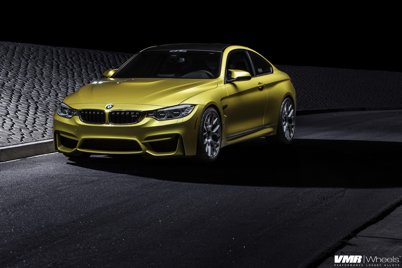 Austin Yellow BMW F82 M4 On VMR Wheels By EAS 06