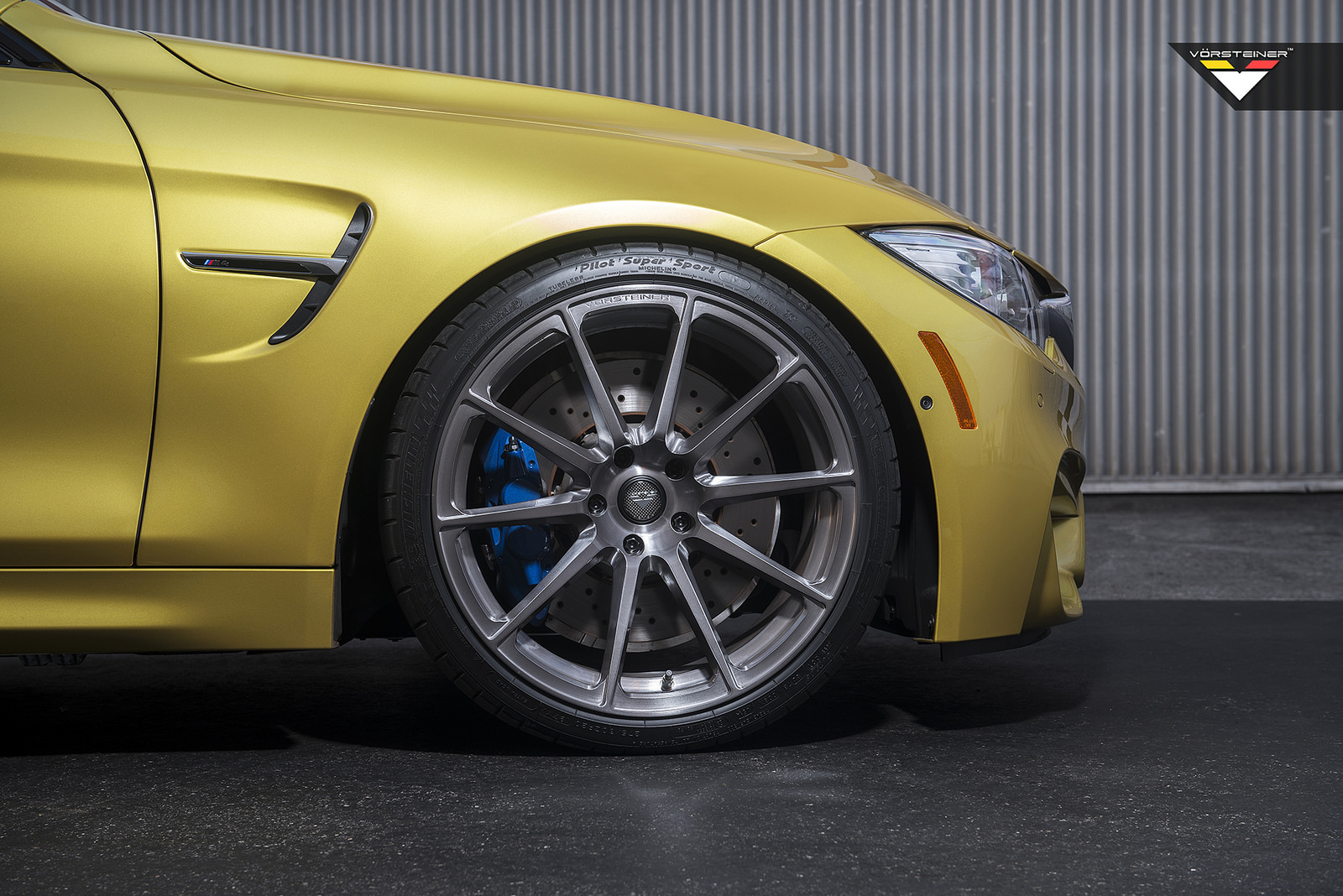 Austin Yellow Bmw F82 M4 On Vorsteiner Vsr 163 Wheels