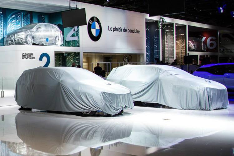 Autosalon Paris 2014 BMW 2er Gran Tourer F46 verhuellt 750x500