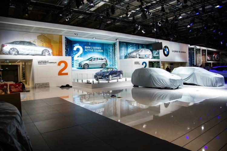 Autosalon Paris 2014 BMW Stand Automesse Weltpremieren verhuellt 750x500