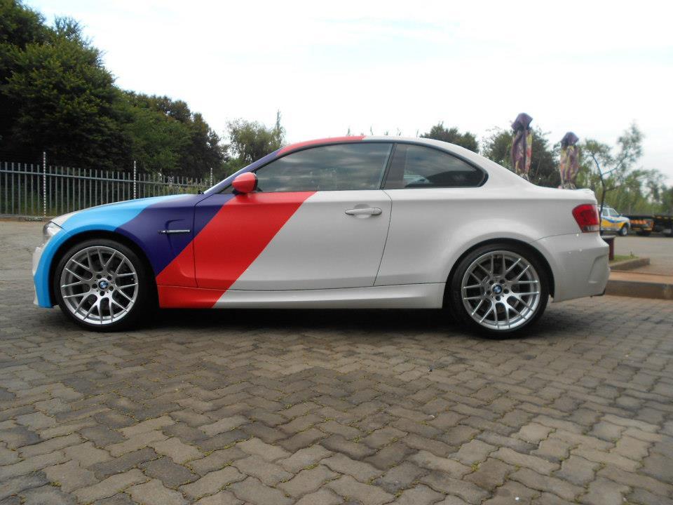 Bmw 1m With Motorsport Stripes
