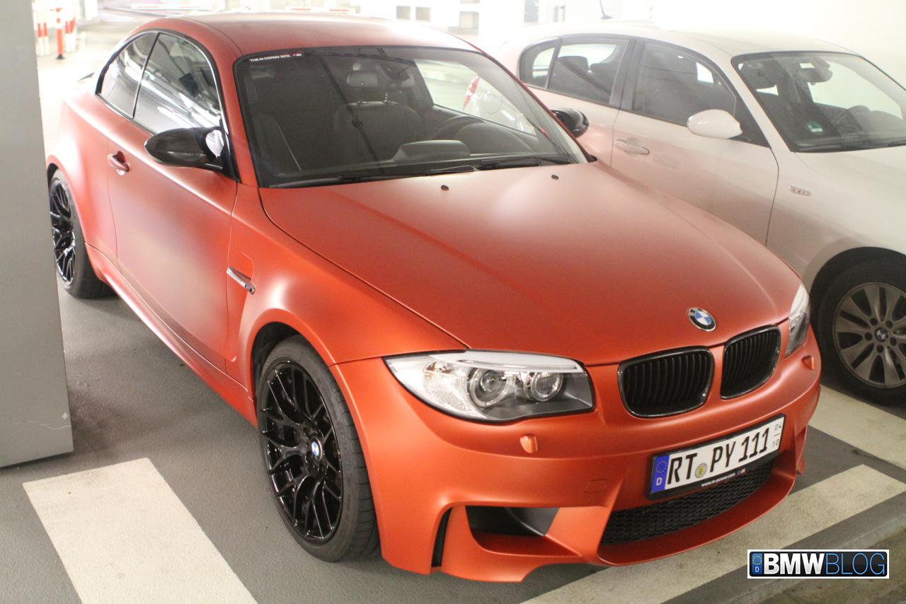 BMW 1M matte orange