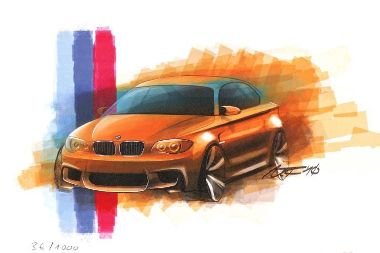 BMW 1M sketch 750x500