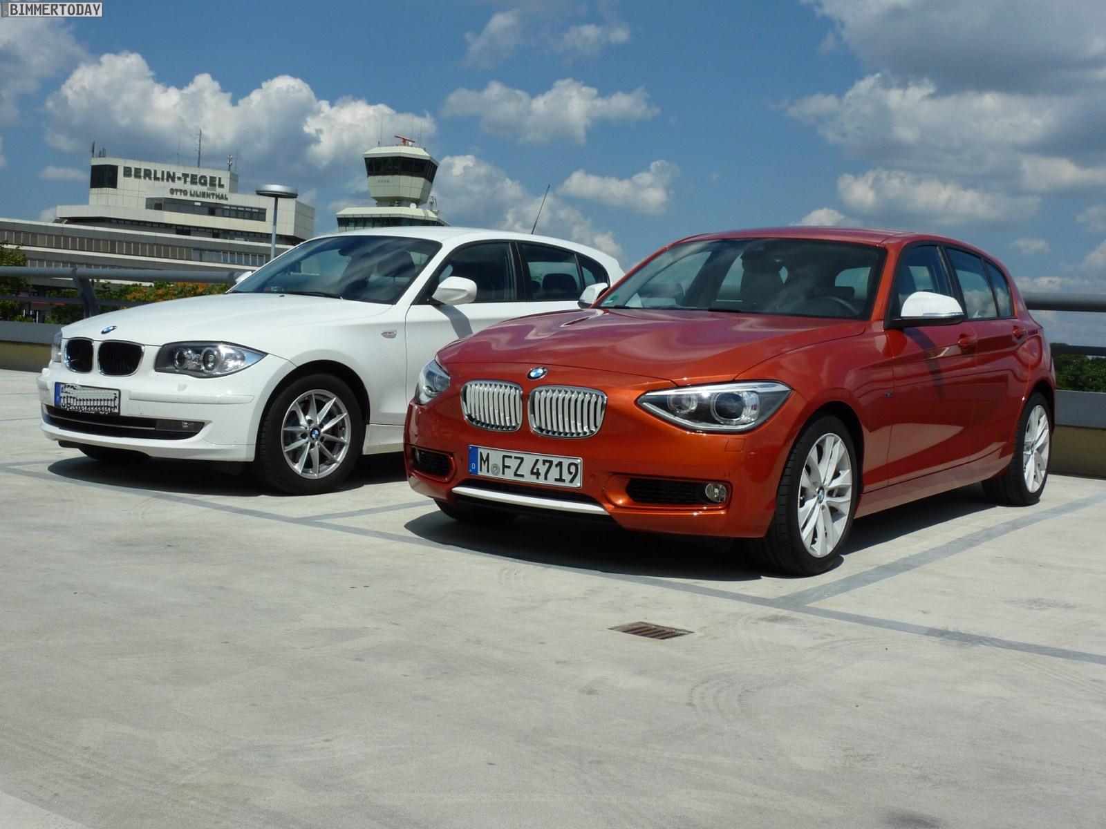 BMW 1er F20 vs E87 head to head Berlin 01