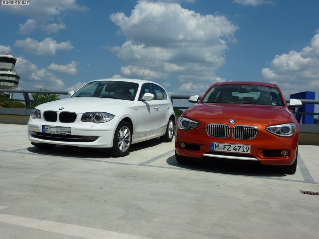 BMW 1er F20 vs E87 head to head Berlin 30 655x491