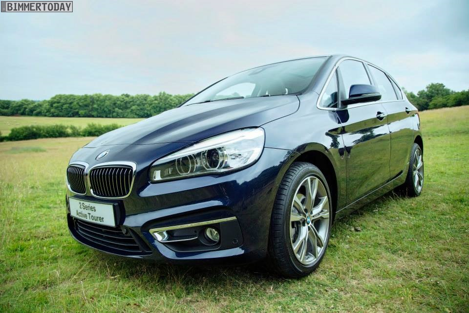Bmw 2 Series Active Tourer In Imperial Blue Metallic