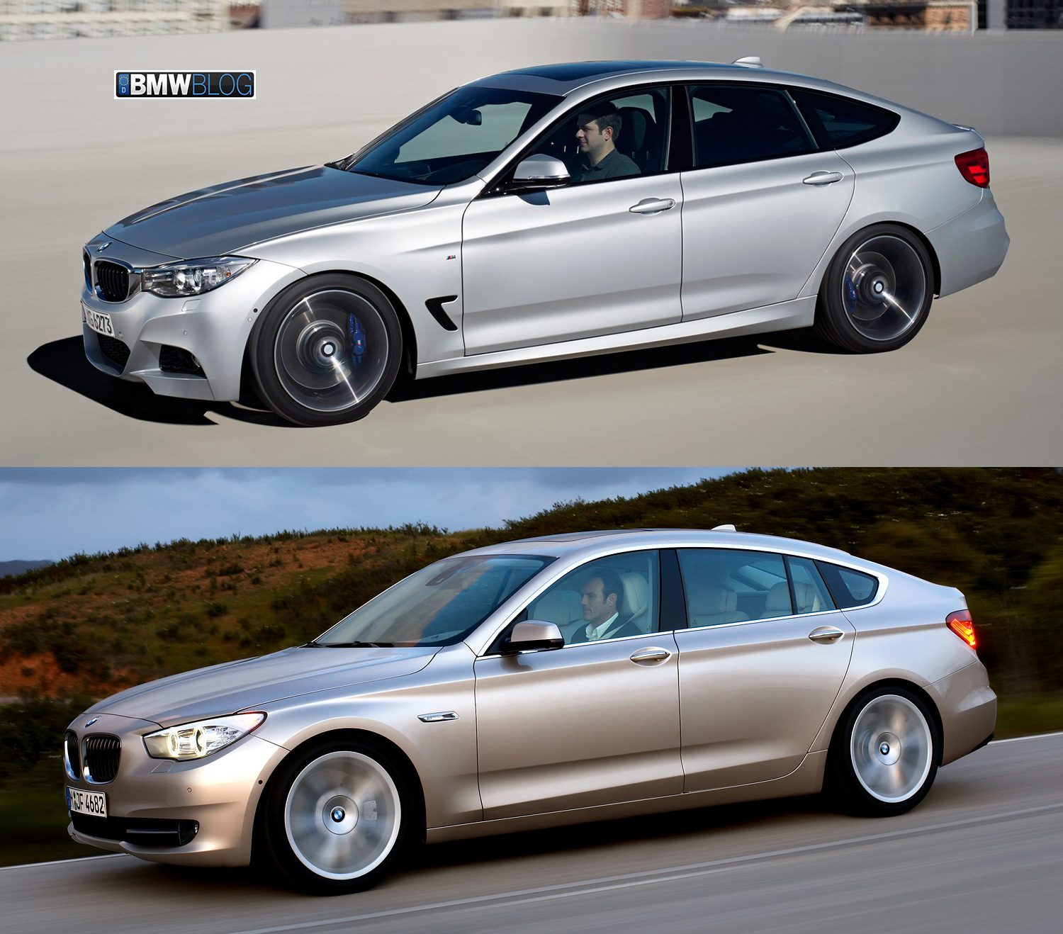 photo comparison bmw 3 series gt vs bmw 5 series gt. Black Bedroom Furniture Sets. Home Design Ideas