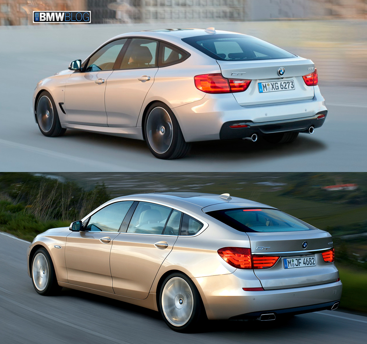 Bmw 2013 550i: Photo Comparison: BMW 3 Series GT Vs. BMW 5 Series GT
