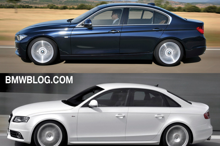 BMW 3 series vs audi a4 photo1 750x500