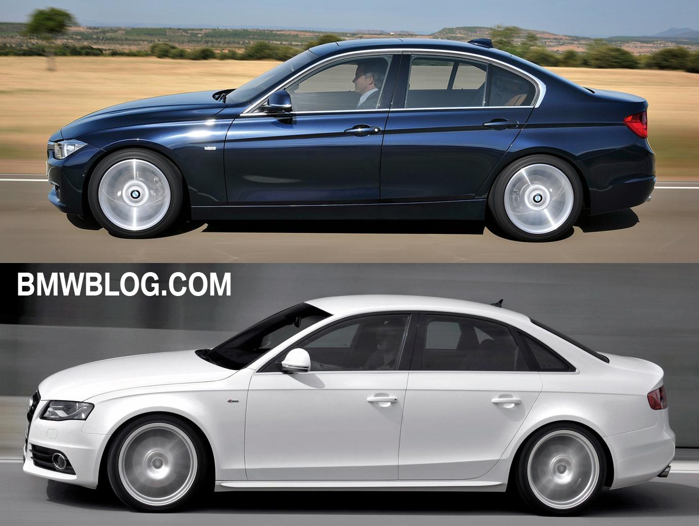 Photo Comparison Audi A4 Vs 2012 Bmw 3 Series