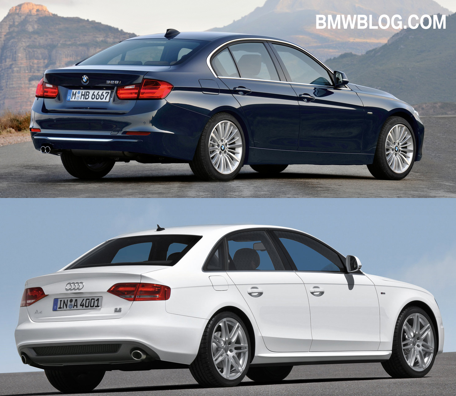 Photo Comparison G20 Bmw 3 Series Vs Facelifted Audi A4: Photo Comparison: Audi A4 Vs. 2012 BMW 3 Series