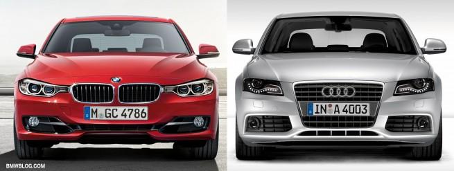 BMW 3 series vs audi a4 photo7 655x247