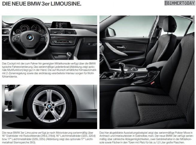 BMW 3er F30 Katalog Serie 1 655x486