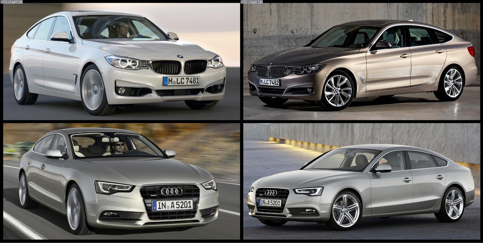 Photo Comparison: BMW 3 Series GT vs Audi A5 Sportback