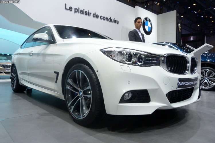 BMW 3er GT F34 325d M Paket weiß Autosalon Genf 2013 LIVE 01 750x500
