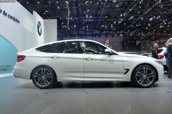 BMW 3er GT F34 325d M Paket weiß Autosalon Genf 2013 LIVE 03 655x436