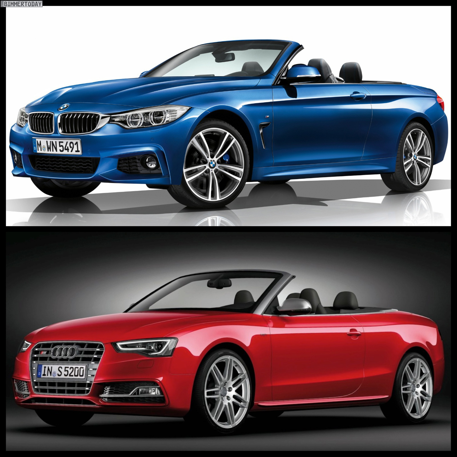 Bmw 4: BMW 4 Series Convertible M Sport Package Vs 2013 Audi S5