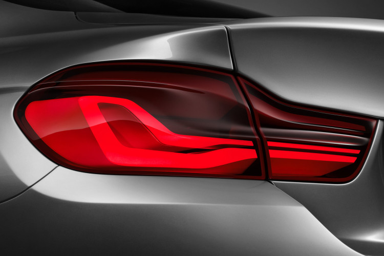 BMW 4 Series Coupe concept taillight in studio 750x500