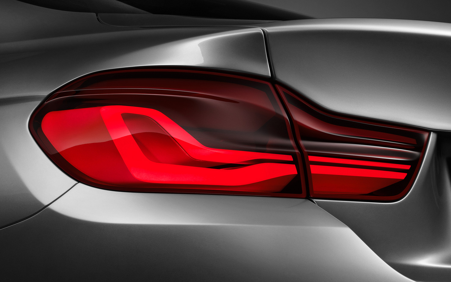 BMW 4 Series Coupe concept taillight in studio