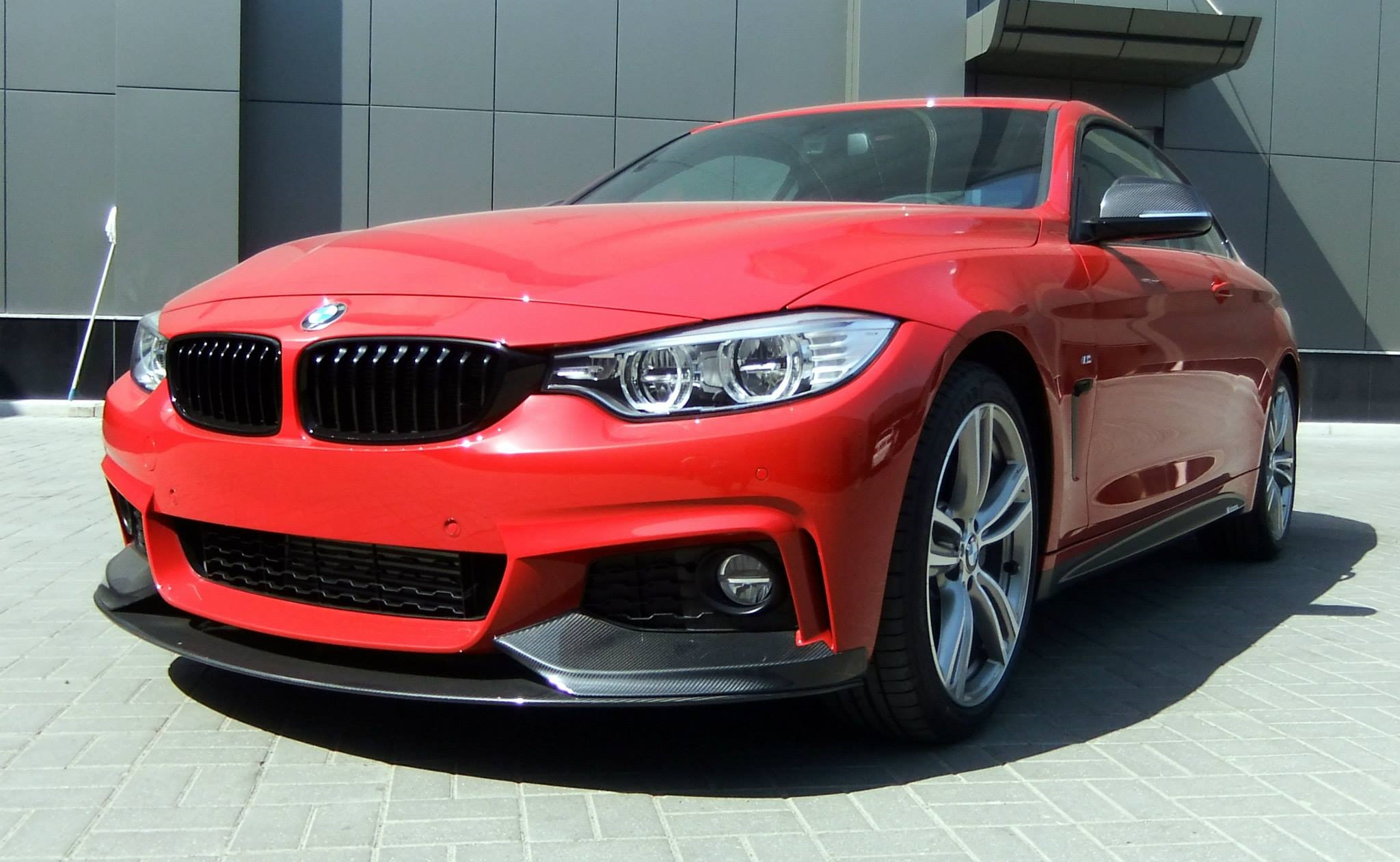 BMW 4er F32 Tuning M Performance Zubehoer 435i Coupe rot 02