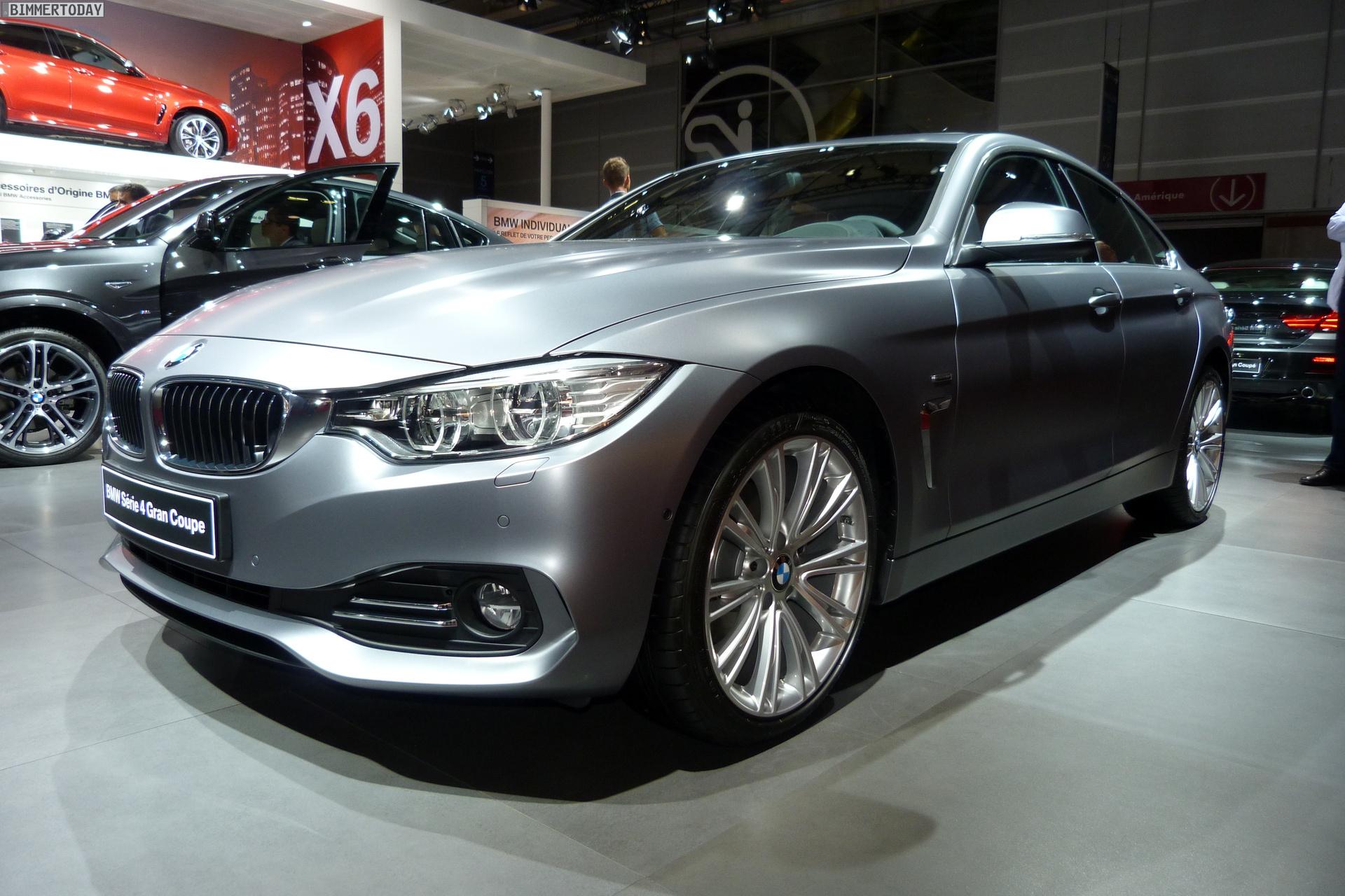 BMW 4er Gran Coupe GC F36 Frozen Cashmere Silver Paris 2014 LIVE 01
