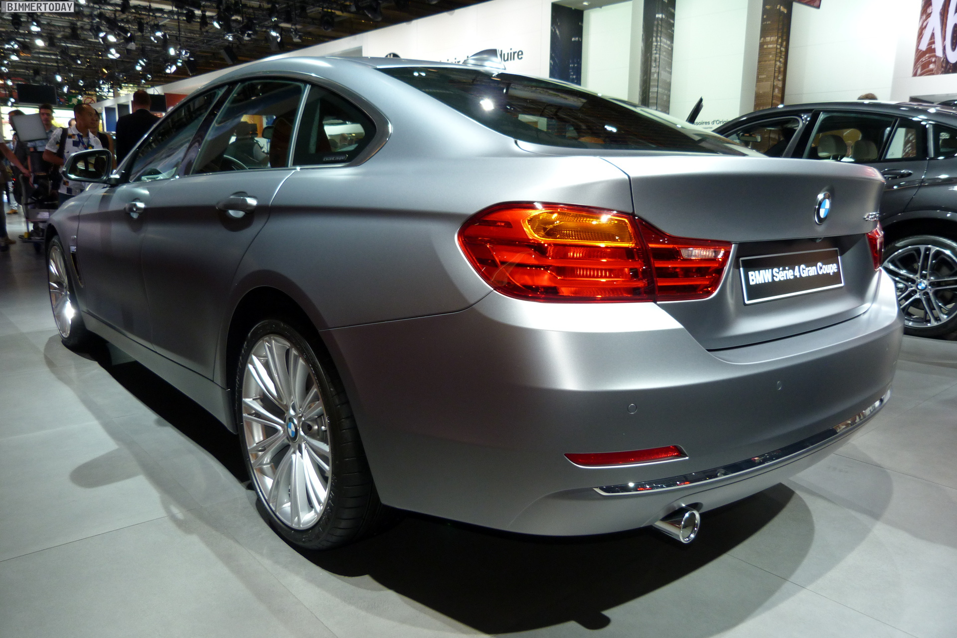2014 Paris Motor Show Bmw 4 Series Gran Coupe In Frozen Cashmere Silver