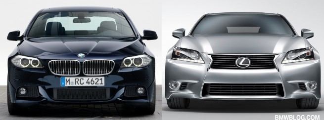 BMW 5 SERIES VS LEXUS GS 350 655x243