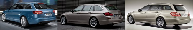 BMW-5er-Touring-F11-Audi-A6-Avant-Mercedes-E-Klasse-T-Modell-Heck