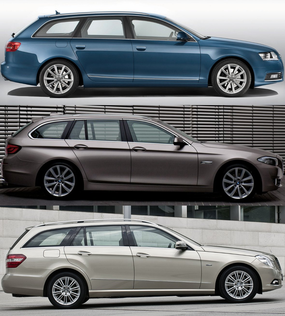 Photo Comparison: F11 BMW 5 Series Touring, Audi A6 Avant