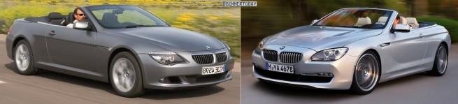 BMW 6er Cabrio E64 F12 Vergleich Front schraeg 655x149