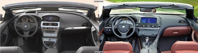 BMW-6er-Cabrio-E64-F12-Vergleich-Interieur