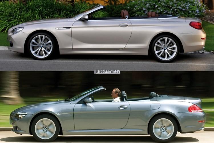 BMW 6er Cabrio E64 F12 Vergleich Seite offen 750x500