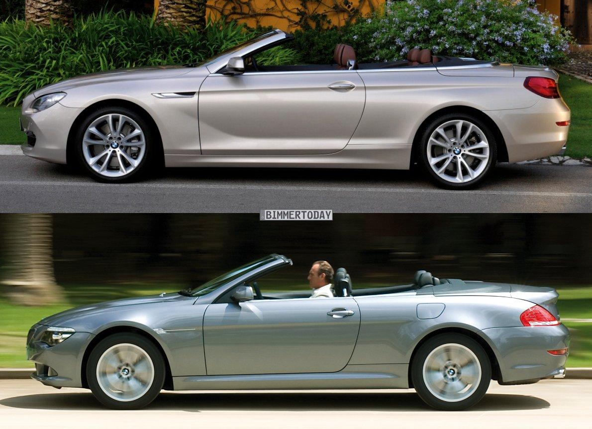 BMW 6er Cabrio E64 F12 Vergleich Seite offen