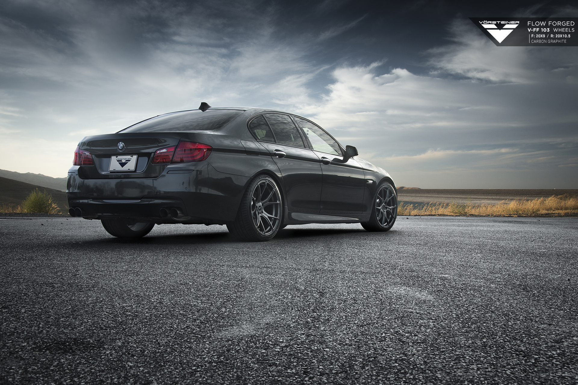 Bmw F10 5 Series On Vorsteiner Flowforged Wheels