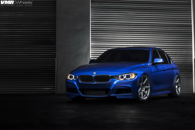 BMW F30 3 Series In Estoril Blue With The New V706 Wheels 1 750x500
