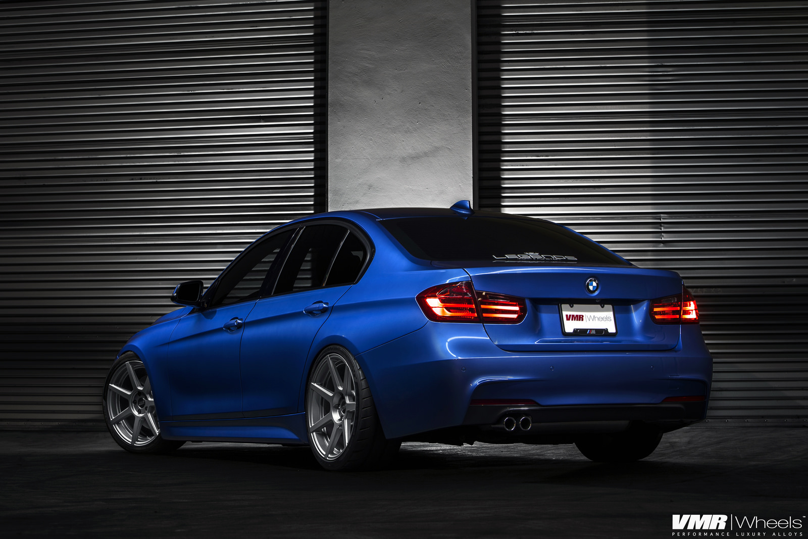 BMW F30 3 Series In Estoril Blue With The New V706 Wheels 6