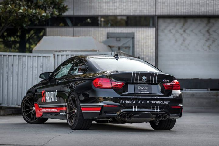 BMW F82 M4 With An Akrapovic Exhaust System