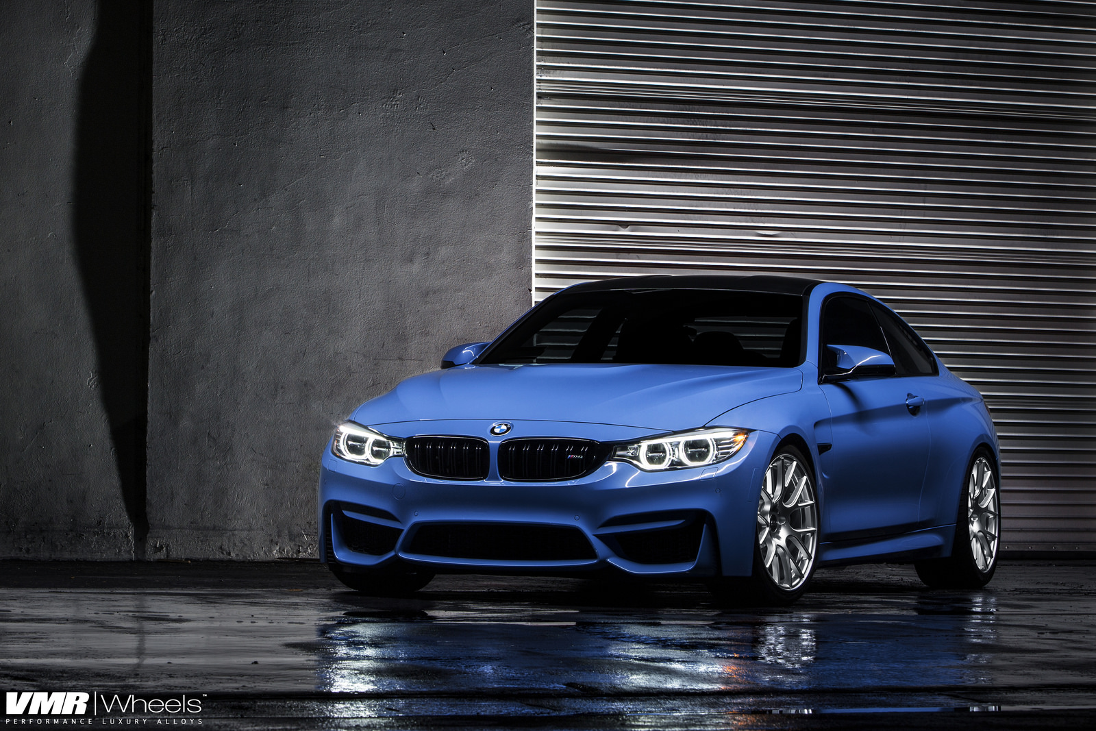 Yas Marina Bmw F82 M4 Blue On Vmr Wheels