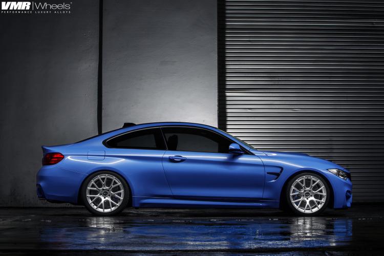 BMW F82 M4 Yas Marina Blue On VMR Wheels