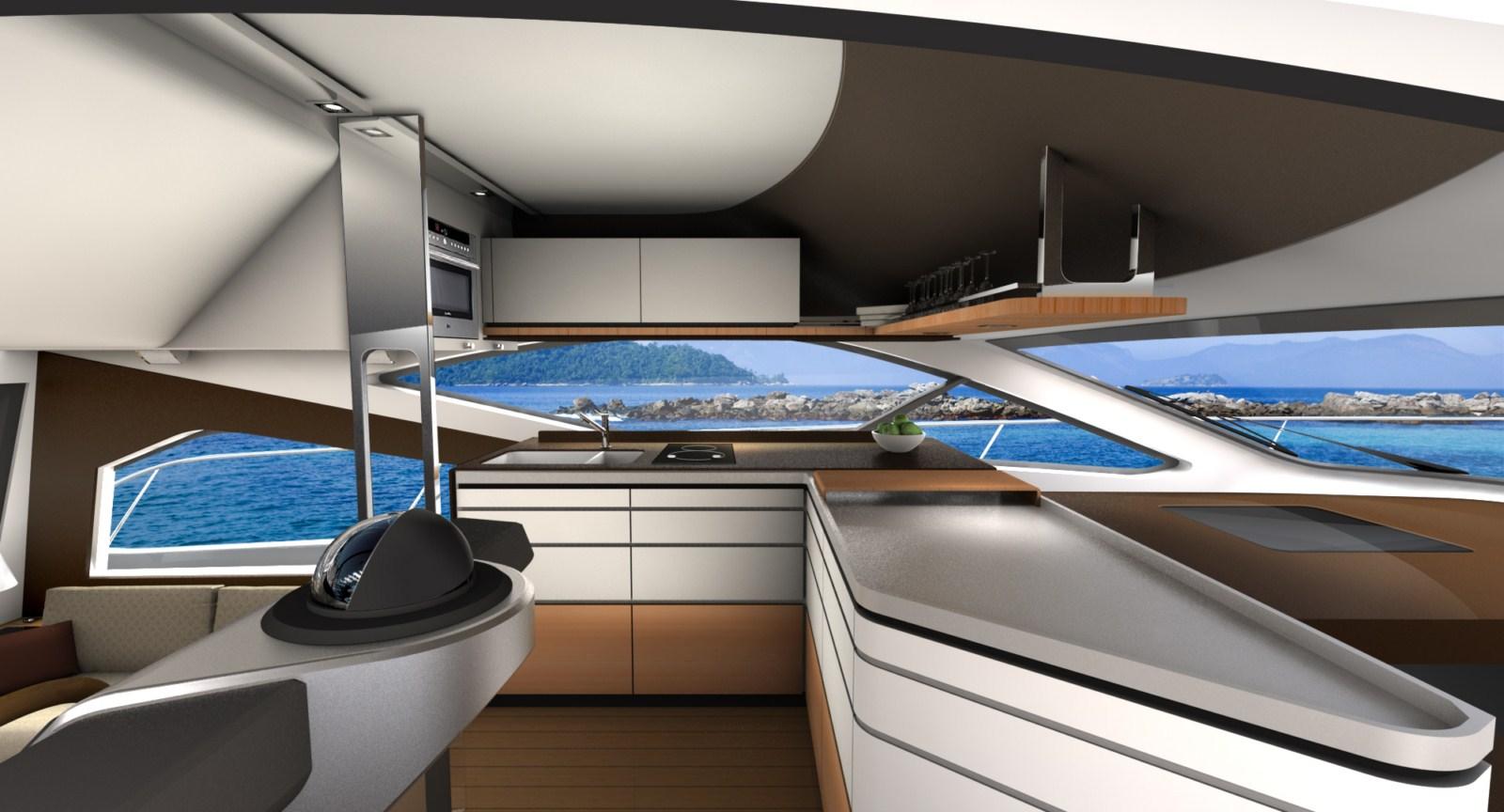 Bmw Designworks Usa Designs Intermarine 55 Luxury Yacht