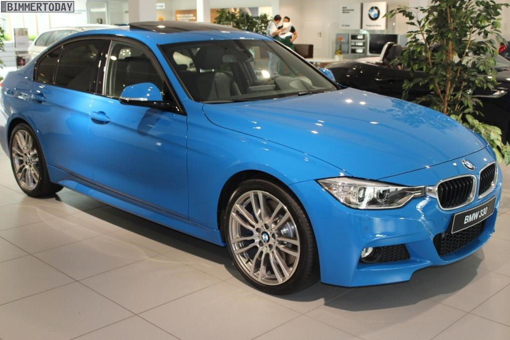 F30 Bmw 3 Series In Pure Blue Color
