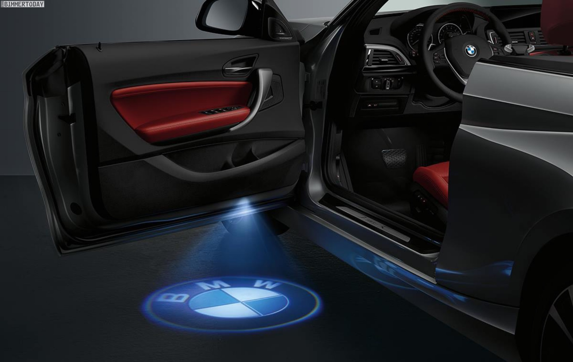 bmw led door projector how it works. Black Bedroom Furniture Sets. Home Design Ideas