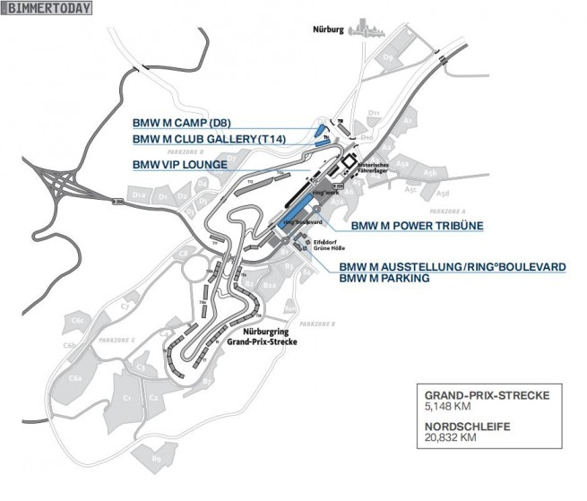 BMW M Festival 2012 Plan 655x559
