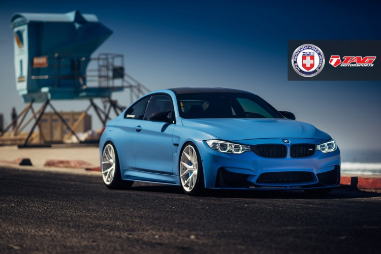 BMW M4 with HRE P101 in Brushed Ice By Linhbergh 1 750x500