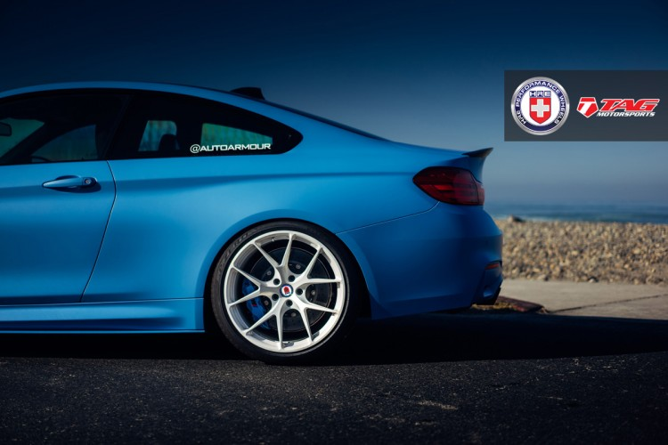 BMW M4 with HRE P101 in Brushed Ice By Linhbergh 4 750x500