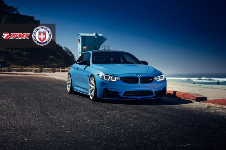 BMW M4 with HRE P101 in Brushed Ice By Linhbergh 8 750x500
