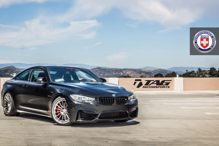 BMW M4 with HRE RS103 in Brushed Titanium by TAG Motorsports 1 750x500